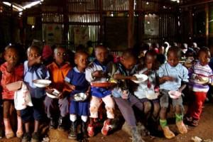 Children Eating.