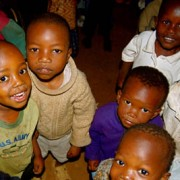 Hungry children in Kibera.